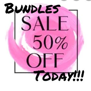 Mix and match any category! 50% off bundles of 3